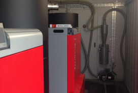 frolling commercial biomass boiler install