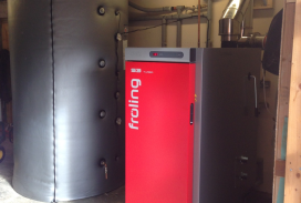 frolling S3 Turbo domestic biomass boiler install