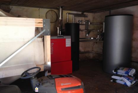 commercial biomass boiler install