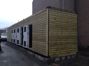 biomass boiler log cabin