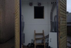 Biomass boilers storage cabinet / shed