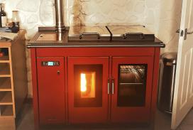 klover 120 biomass pellet cooker boiler