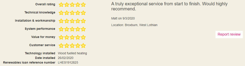 Broxburn testimonial